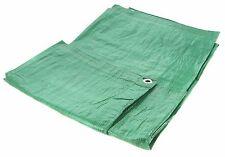 Green Heavy Duty 1.8m x 2.4m (6ft x 9ft) Polyethylene Woven Tarpaulin