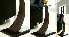 Unique End Table Living Room Cocktail Furniture Glass Top Coffee Side Modern Den