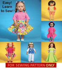 SALE! SEWING PATTERN! MAKE DOLL CLOTHES! FIT AMERICAN GIRL JULIE~MARYELLEN! EASY