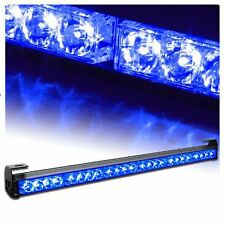 """SUV Front Bumper/Roof 27"""" Blue Emergency Warning Recovery Strobe LED Light Bar"""