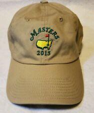 AMERICAN NEEDLE Masters 2015 Golf Strap-Back Adjustable Hat Tan Khaki Brown Cap