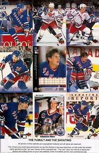 1995-96 UD Upper Deck Hockey New York Rangers Complete Team Set (24)