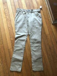 OLD NAVY Boy's 14 Skinny Uniform Khaki Pants Adjustable Waist -New With Tags
