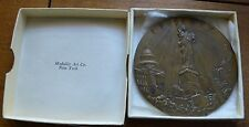 RARE DECO 1940 NATIOAL ASSOCIATION OF MANUFACTURERS  3'  Bronze Medal BOXED