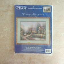 Thomas Kinkade Embellished Cross Stitch Kit Beyond Spring Gate 51070