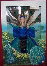 The Peacock Barbie Doll Birds Of Beauty Collector Edition Feather Fan NRFB