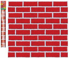 40ft Red Brick Room Roll Christmas Scene Setter Party Wall Decoration Backdrop