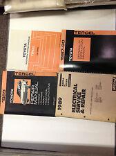 1989 TOYOTA TERCEL Service Shop Repair Manual Set OEM W EWD Driveability + Mitch