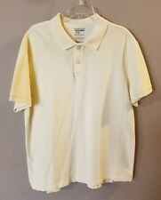 Old Navy Men's Size XL Pull Over Yellow Polo Short Sleeve Shirt 100% Cotton