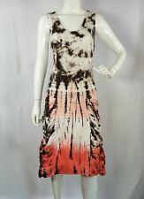 NWT Lilly Mason cotton tie dye shirred boho casual beach women's Dress Size M
