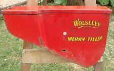 More details for part of a vintage wolseley merry tiller rotivator advertising metal sign