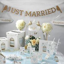 GOLD JUST MARRIED GARLAND - WEDDING VENUE DECORATION