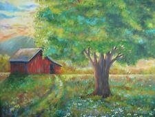 "Farm Scene & Barn Original Oil Painting  Artz-D,36"" x 36"" on canvas $1995-Signed"