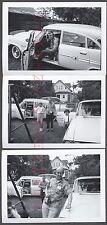 Lot of 3 Vintage Car Photos Camera Boy & Family 1958 Chrysler New Yorker 664618
