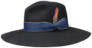 Stetson Women's Hat Wool Hat Cloche Hat Ladies 1 Black Asahi Guard New Trend