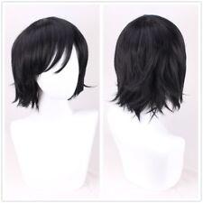 Keith Voltron:Legendary Defender wig short black fulffy cosplay wig +a wig cap