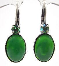 SoHo® Ohrringe Ohrhänger geschliffene Kristalle peridot green moonshine bohemia