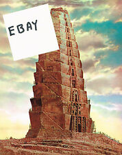 THE BIBLE 1966 MOVIE PHOTO NEW! TOWER OF BABEL SPFX COLOR 8X10 GLOSSY