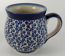 Bunzlauer Keramik Tasse BÖHMISCH  - Punkte - blau/weiß - 0,45 Liter, (K068-MAGD)