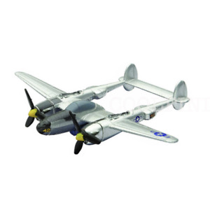 P-38 Lightning Diecast 1:200 World War II Fighter Plane New-Ray Military Mission