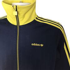 Vintage Adidas Trefoil Logo Retro Track Jacket - Navy & Lime - S