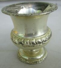 Made in Occupied Japan 'EIC' Silver Plated Footed Cigarette Urn