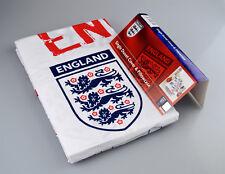 Official England FC Bedding White Football Single Duvet Pillowcase Three Lions