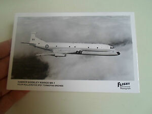 RP Postcard - Hawker Siddeley Nimrod MK.1 Four Rolls Royce Spey Turbofan Engines