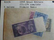 1948 GB Full Set Of 4 Stamps - Olympic Games  - MNH