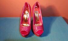 Glitter Pink Platform High Heels 4 37 Sexy New without box