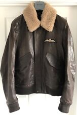 1eda914e61a Belstaff Arne Leather Limited Edition RAF Aviator Jacket - Size IT 52 / 42  UK