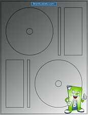 100 GLOSSY Laser Labels! -Fits Full Face Memorex - 50 Sheets! CD DVD Gloss