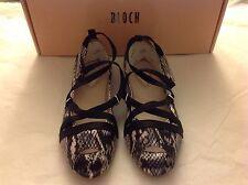 BLOCH Girls Sz 32 Carmen Sandal Silver Black Snakeskin look NIB US 13 Shoe New