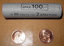 Greece Grece Grecia Griechenland Греция 希腊  2 Drachma roll Year 2000 UNC BU