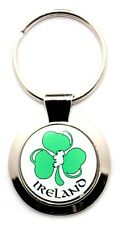 Irish Keyring - Ireland White - Clover - Irish Gifts