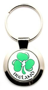 Irish Keyring - Ireland White - Clover - Irish Gifts
