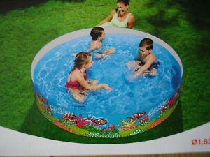 Bestway Fill and Fun Pool Schwimmbecken Planschbecken Gartenpool 1,83x0,38m
