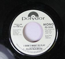Rock Promo 45 Ellen Mcilwaine - I Don'T Want To Play / I Don'T Want To Play On P