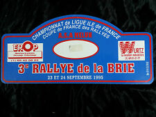 PLAQUE de RALLYE de la BRIE 1995 Rally ASA Melun WRC