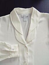 Vtg 80s K ARNOLD Button Front Long Sleeve White Shirt Blouse Top Women Sz 6 M L