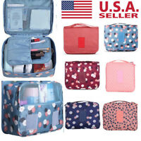 USA Travel Cosmetic Storage Make Up Bag Folding Hanging Toiletry Organizer Pouch