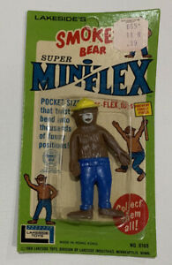 SMOKEY THE BEAR Lakeside 1968 Super Mini-Flex Vintage Figure #8168 Sealed In Box