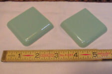 "2 pcs. Fern Green  2"" X 2"" X 5/16"" Glossy Ceramic Surface Bullnose Corner Tiles"