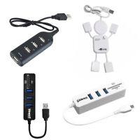 4-Port USB 3.0 Splitter Hub Hi-Speed Adapter For PC Computer Notebook Black JG