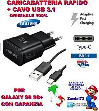 CARICA BATTERIA RAPIDO ORIGINALE SAMSUNG + CAVO USB 3.1 TYPE-C S8 S8+ EDGE PLUS