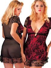 Mini abito intimo nero/bordo Tg XL | Sexy Dress Biancheria intima Lingerie sexy