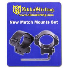"Nikko Rifle Scope MOUNTS 2 Piece 30mm Tube LOW 11mm 3/8"" Dovetail Airgun Rings"
