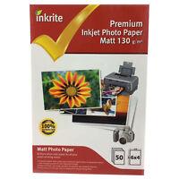 400 Sheets Inkrite 6x4 130gsm Single Sided Matte (Matt) Photo Paper