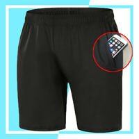 Mens Black Shorts With Pockets Running Sport Workout Casual Pants Trousers S-2XL