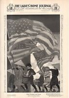 """1903 Ladies Home Journal- Maxfield Parrish print - With Trumpet and Drum 11X16"""""""
